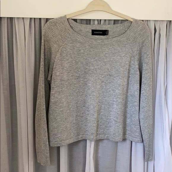 MINKPINK Grey Crop Sweater